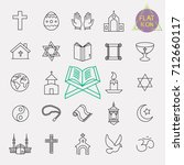 religion line icon set | Shutterstock .eps vector #712660117