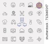 technology line icon set | Shutterstock .eps vector #712660147