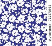 flower illustration pattern | Shutterstock .eps vector #712670953