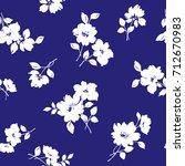 flower illustration pattern | Shutterstock .eps vector #712670983