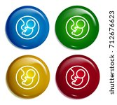 fetus multi color gradient...
