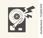 damage the data  hard disk... | Shutterstock .eps vector #712681333