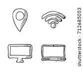 doodle of finance business... | Shutterstock .eps vector #712685053