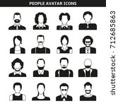 people avatar  character icons | Shutterstock .eps vector #712685863