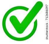 illustration of green check... | Shutterstock .eps vector #712686097