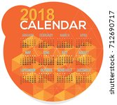 2018 orange geometric round... | Shutterstock .eps vector #712690717