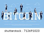 bitcoin. business concept in a... | Shutterstock .eps vector #712691023
