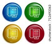 fax multi color gradient glossy ...