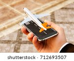 smartphone application for... | Shutterstock . vector #712693507
