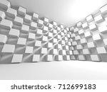 futuristic white architecture... | Shutterstock . vector #712699183