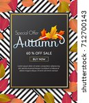autumn sale template banner... | Shutterstock .eps vector #712700143