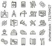 engineering thin line icon set... | Shutterstock .eps vector #712704427