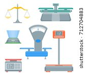 cartoon weight scales color... | Shutterstock .eps vector #712704883