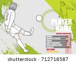 illustration of soccer players... | Shutterstock .eps vector #712718587