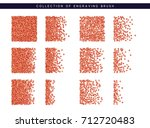 red sequins texture. set brush... | Shutterstock .eps vector #712720483