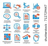 business management icons. pack ... | Shutterstock .eps vector #712729447