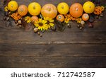 Autumn Harvest Pumpkins On...