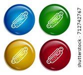 hot dog multi color gradient...