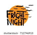 fright night. halloween hand... | Shutterstock .eps vector #712746913