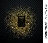 gold glitter explosion shiny...   Shutterstock .eps vector #712747513