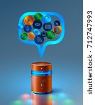 smart speaker gives access to... | Shutterstock .eps vector #712747993