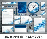 brand stationery abstract... | Shutterstock .eps vector #712748017