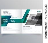 company bifold brochure design... | Shutterstock .eps vector #712750033
