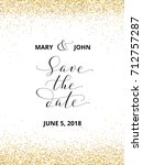 save the date card with falling ... | Shutterstock .eps vector #712757287