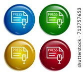press multi color gradient...