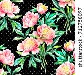 watercolor hand paint pink... | Shutterstock . vector #712758097