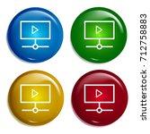 play video multi color gradient ...