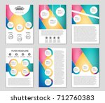 abstract vector layout... | Shutterstock .eps vector #712760383