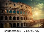 rome  italy.one of the most... | Shutterstock . vector #712760737