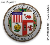 great seal of the usa city of... | Shutterstock .eps vector #712763233