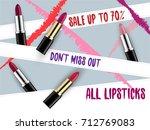 vector 3d cosmetic illustration ... | Shutterstock .eps vector #712769083