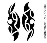 tattoo tribal vector designs.... | Shutterstock .eps vector #712772203