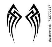 tattoo tribal vector design....   Shutterstock .eps vector #712772317