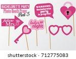 set of printable bachelorette... | Shutterstock .eps vector #712775083
