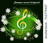 abstract summer musical... | Shutterstock .eps vector #712775437