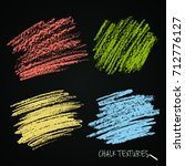 textures strokes of chalk. a... | Shutterstock .eps vector #712776127