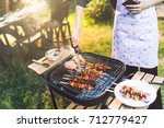 asian woman are cooking for a... | Shutterstock . vector #712779427