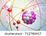 elementary particles in atom.... | Shutterstock . vector #712780417