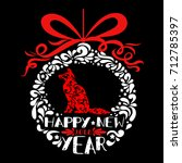 happy new year greeting card.... | Shutterstock .eps vector #712785397