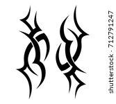 tribal tattoo art designs.... | Shutterstock .eps vector #712791247