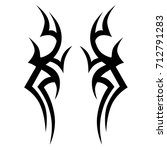 tribal tattoo art designs.... | Shutterstock .eps vector #712791283