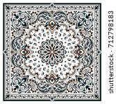 paisley bandana print   Shutterstock .eps vector #712798183