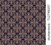 baroque floral pattern vector... | Shutterstock .eps vector #712798357