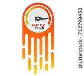 vector speedometer scale.... | Shutterstock .eps vector #712798453