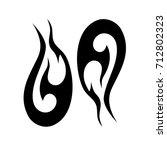 tribal tattoo art designs....   Shutterstock .eps vector #712802323