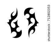 tribal tattoo art designs.... | Shutterstock .eps vector #712802353